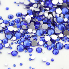 Wholesale 1440pcs Crystal Sapphire Rhinestones Flat Back Nail Art Accessories