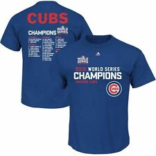 Chicago Cubs Majestic Mens 2016 World Series Champ Roster Shirt Big & Tall Sizes