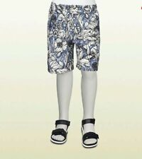 NWT NEW Gucci boys blue black white flora print swim trunks 4y 5y 6y 10y 307205