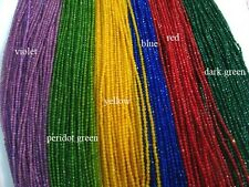 10 of multicolor tiny jade facets round beads loose strands 16""