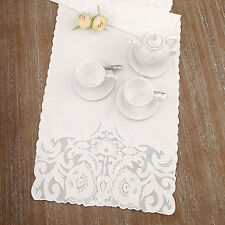 Runner Shabby Chic Easther Collection Blanc Mariclo 50 x 150 Colore Bianco