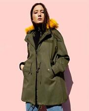 BNWT ZARA PARKA WITH COLOURFUL FAUX FUR HOOD REF. 8073/260