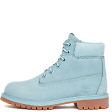 Youth Timberland 6' Premium Suede Boots Stone Blue TB0A1KQ4 Sz 4-7 Grade School