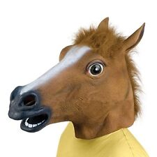Hot Cosplay Halloween Horse Head Mask Latex Animal ZOO Party Costume Prop YK