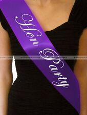1pc Purple Hen Party Sash Sashes Hen Night Party Do Accessories S5