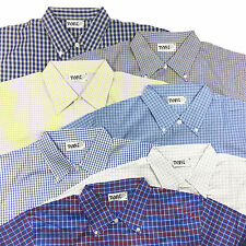 NEW - Men's Short Sleeve Shirt oversized checked L up 3XL in 8 Colours