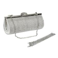 Elegant Crystal Diamante Evening Bag Bridal Clutch Party Prom Wedding Handbag