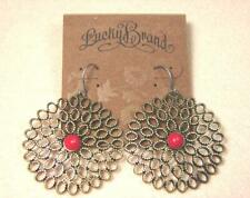 NEW LUCKY BRAND GEMSTONE SNOWFLAKE VINTAGE FLOWER DANGLE HOOK PIERCED EARRINGS