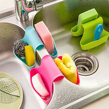 Double Sink Saddle Style Sponge Scrubby Kitchen Gadget Caddy Holder 3 Colors