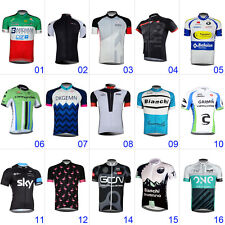 Fashion Mens Cycling Jersey Shirt Bike Sports Clothing Short Sleeve Bicycle Tops