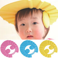 Soft Adjustable Baby Kids Shampoo Bath Bathing Wash Hair Shield Shower Cap Hat