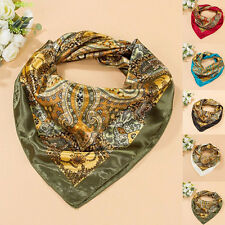 Women Satin Luxury Wrap Bandana 35'' x35'' Scarf Square Large Headband Kerchief