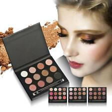 12 Colors Pro Matte Shimmer Eyeshadow Palette Set + Eye Shadow Makeup Brush