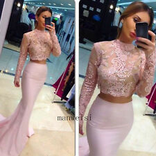 Sexy Evening Party Prom Gown Two Pieces Bridesmaid Cocktail Dresses Custom