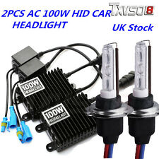 100W HID Xenon Conversion Kit Headlights H1 H4 H7 AC Metal Base Ballast Bulbs UK