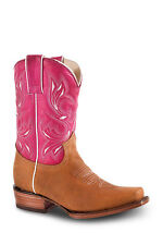 New Womens Tan Cowgirl Western Leather Rodeo Boots REDHAWK 5705 Size 5-10 (B, M)