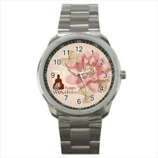 Lotus Wesak Day Buddhism Stainless Steel Sports Watch