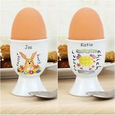Personalised Easter Bunny Egg Cup or Easter Chick Egg Cup