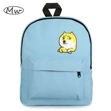 Japanese Style Women Canvas Backpack Cute Dog Printing Backpacks High School Stu