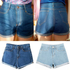 New Women's Summer Blue Jean Denim High Waist Short Jeans Casual Shorts Pants