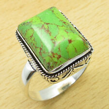 GREEN COPPER TURQUOISE ! 925 Silver Overlay Ring Size UK V WHOLESALE PRICE