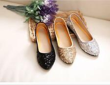 Women Comfort Round Toe Casual Flat Loafer Sequins Glitter Dress Prom Shoes