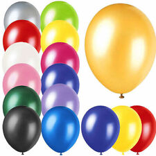 """100 X 10"""" INCH LATEX HELIUM OR AIR QUALITY BALLOONS FOR PARTY WEDDING BIRTHDAY /"""
