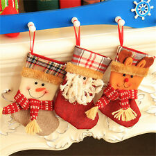 Christmas Stocking Santa Claus Hanging Gift Bag Decoration Party Ornament ab