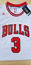 Brand New NBA Chicago Bulls Dwayne Wade Adidas White Swingman Jersey NWT