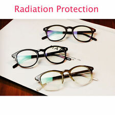 Vintage Retro Men Women's Glasses Round Radiation Protection Clear Lens Eyewear