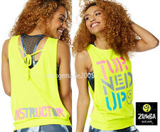 ZUMBA 2Pc.Set!! INSTRUCTOR Turned Up Instructor Loose Tank Racerback + Mesh Bra