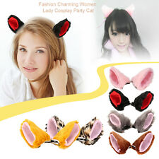 Fashion Charming Women Lady Cosplay Party Cat Ear Fur Hair Clip Party Costume SM