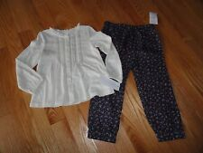 Polo Ralph Lauren Baby Toddler Girls Outfit Set Cotton Pants Shirt 18M 24M NWT
