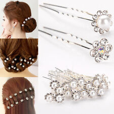 Popular 20Pcs Wedding Bridal Pearl Flower Crystal Hair Pins Clips Bridesmaid