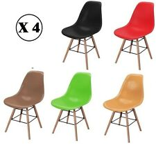 SET OF 4 CHAIRS UPGRADED DESIGN INSPIRED EIFFEL DSW RETRO LOUNGE DINING CHAIRS