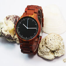 Luxury Natural Sandal Wood Watch Men Women Wooden Quartz Wristwatch Unisex New