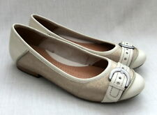 NEW CLARKS ACTIVE AIR HENDERSON ICE WOMENS METALLIC LEATHER SHOES 4.5 / 37.5