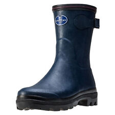 Le Chameau Giverny Low Womens Wellington Boots Dark Blue New Shoes