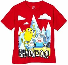 Adventure Time Jake Finn Shmowzow! Red Licensed Kids Youth Boys T-Shirt New