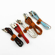 2A HIGH SPEED PU Leather Micro USB A to USB 2.0 B Data Sync Charger Cable Cord