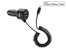 MFI Apple CERTIFIED 22 Watt 4.4 Amp Lightning 8 Pin Car Charger with 2 USB Port