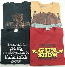 Lot of 4 Men's Graphic T-Shirts 2XL Mixed Brands