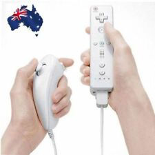 Built in Motion Plus Remote Nunchuck Controller 2 in1 Set For Wii U Wii White NJ