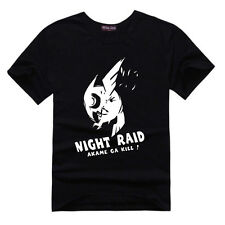 Anime Akame ga Kill T-shirt Night Raid Clothes Cotton Short Sleeve Top t Shirt