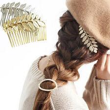 Hot New Women Lady Hair Clips Hair Comb Hairpin Alloy Leaves Elegant Headband fo
