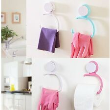 Wall Suction Cup Towel Shelf Toilet Paper Holder Gloves Hanging Rack Home Office