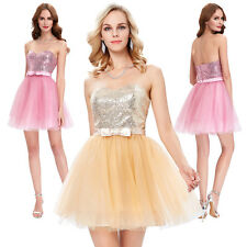 Sequins Strapless Prom Party Evening Cocktail Dress Bridesmaid/Homecoming Dress