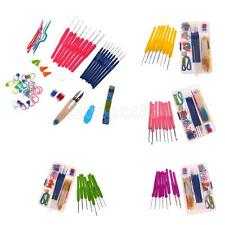 57pcs 16 Size Crochet Hooks Needles Stitches Knitting Craft Crochet Sets in Case
