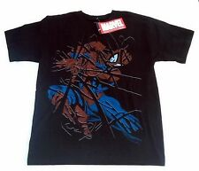 NWT Youth Marvel Shattered Spiderman Black T Shirt Size M