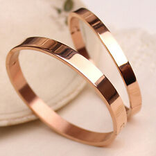 Men's Women's Copper Lover Polished Cuff Bangle Gift Bracelet Wristband Ardent